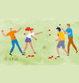 harvest festival people throwing ripe tomatoes vector image