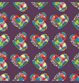hearts hand drawn seamless pattern valentines vector image