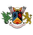 heraldic in vintage style vector image