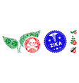 infection mosaic herbicide icon with healthcare vector image vector image