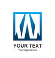 initial letter w logo template colored blue vector image vector image