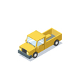 isometric blue wagon car minivan trucks for cargo vector image vector image