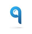 Letter Q speech bubble logo icon design template vector image vector image