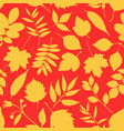 lovely autumn leafs pattern in warm colors vector image vector image