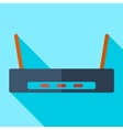 Modern flat design concept icon Wi-Fi router vector image