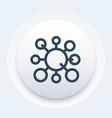 molecule icon linear style vector image