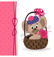mouse in a basket vector image