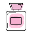 perfume bottle in line style vector image