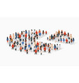 population demographics report pie chart composed vector image vector image