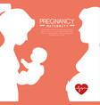 pregnancy and maternity infograhic vector image