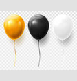 realistic and volumetric balloons on transparent vector image