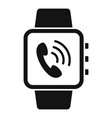 receive calling on smartwatch icon simple style vector image vector image