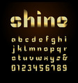 ribbon font alphabet with gold effect letters vector image