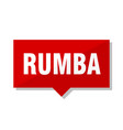 rumba red tag vector image vector image