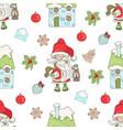 santa lamp christmas seamless pattern illus vector image vector image