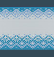 seamless knitted nordic pattern vector image vector image