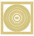 set frieze with vintage golden Greek ornament vector image vector image