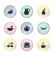 set of simple cuisine icons vector image vector image