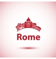silhouette of Rome City skyline vector image vector image