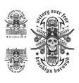 skateboarding emblem set vector image vector image