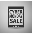 Tablet PC with Cyber Monday Sale text on screen vector image
