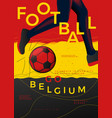 typographic belgium football poster vector image