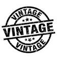 vintage round grunge black stamp vector image vector image