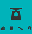 weight scale icon flat vector image