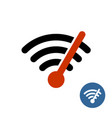 wi-fi icon with speedometer arrow high speed icon vector image