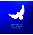 International peace day Greeting card vector image