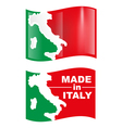 made in italy flag vector image