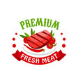 premium fresh meat logo template badge for vector image