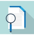 document with search icon vector image