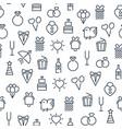 festive light seamless pattern vector image