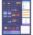 Flat ui Web and Mobile Kit vector image