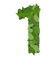 1 number leafs vector image