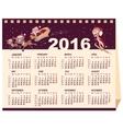2016 calendar Desk calendar vector image vector image