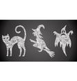 Abstract halloween symbols vector image vector image
