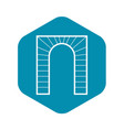 arch icon simple style vector image vector image