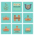 Assembly flat icons poker symbols