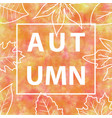 autumn banner with watercolor background vector image vector image