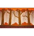 Autumn Forest Cartoon Background vector image