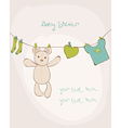 baby shower card with place for your text vector image vector image