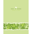 Bamboo branches horizontal card seamless pattern vector image