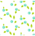 Berry light seamless pattern white background vector image