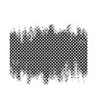 black checkered abstract grunge banner vector image vector image