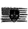 black silhouette head aggressive bully dog vector image vector image