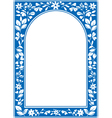 blue floral arch frame vector image vector image