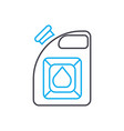 canister for gasoline thin line stroke icon vector image