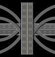 car highway denouement many roads top vector image vector image